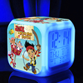 nightlight  jake and the neverland pirates Colors changind Digital ledclock  Thermometer toys  jake n the neverland pirates