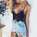 Fashion 2016 European Sexy Womens Camisole Spaghetti Strap Black White Lace Tops Ladies Summer New Tank Top Bralette Crop Top