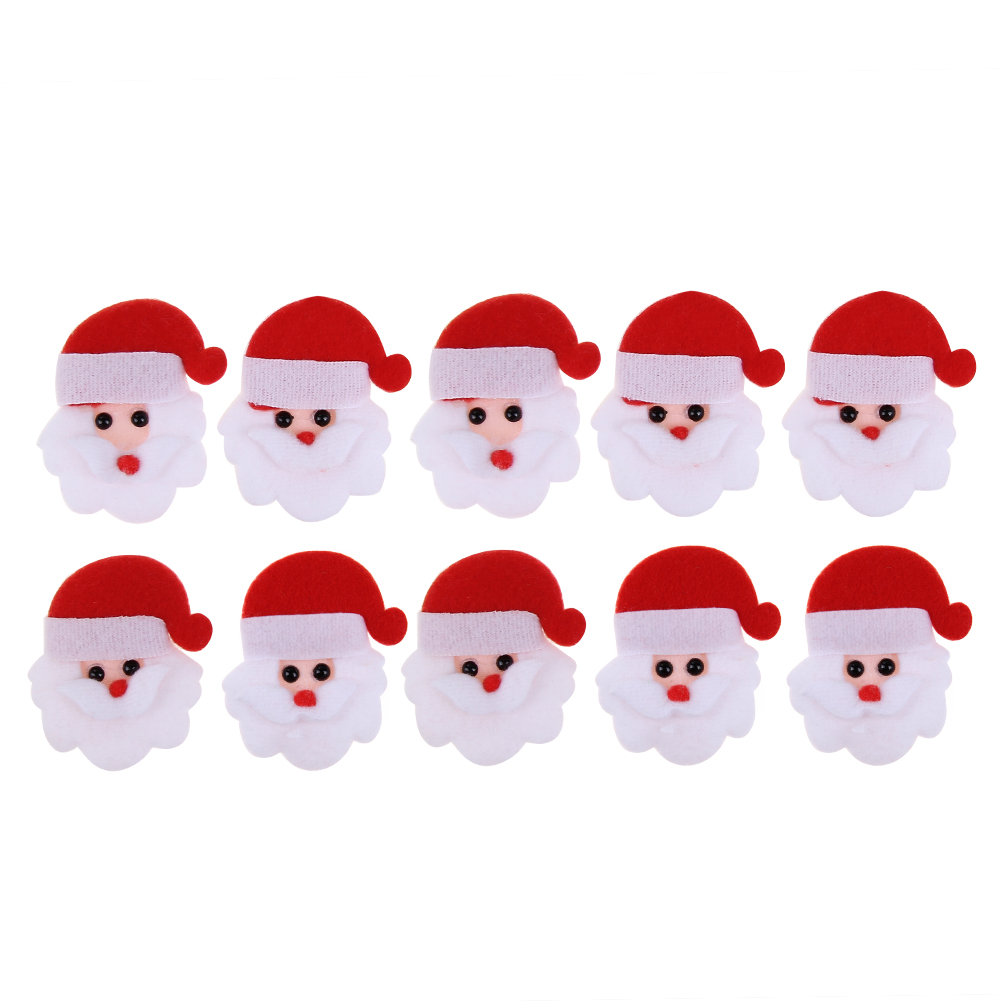 10pcs Merry Christmas Santa Claus Ornament Non woven fabric ...