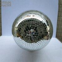 D50cm 19,7 дюйм(ов) большой Бальные дискотека зеркало шар отражение света стекло шар этап большие шары с мотором светильники