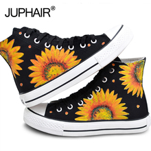 JUP Men Males Boy Girl Totoro Sunflower Bone Bay Max Doraemon Cat fish  Simpson Bay Max   Fox High Top Hand Painted Canvas Shoes jup mens males girls watermelon spongebob despicable me minion cat butterfly flag pattern skull hand painted canvas gift shoes