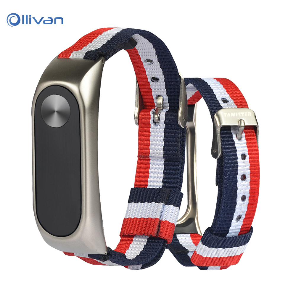 Mi Band 3 4 Nylon Strap Bracelet Sports Canvas Metal Case Replacement Wristband Belt For Miband 2 Accessories Mi Band 3 Correa