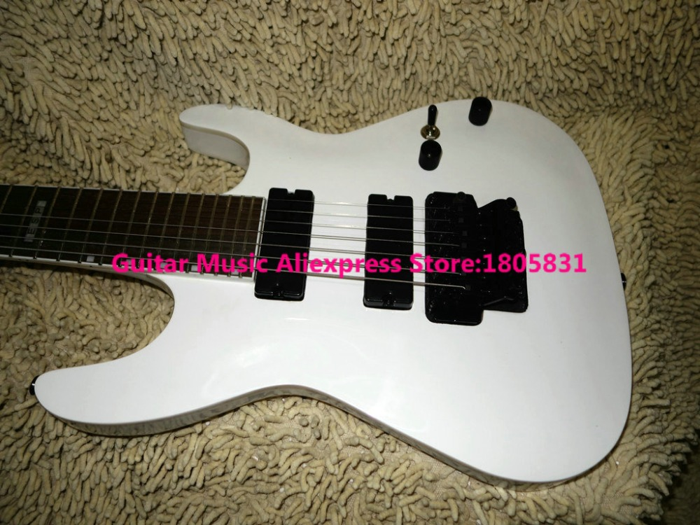 new arrival 7 strings electric guitar white guitars high quality wholesale oem guitars hot in. Black Bedroom Furniture Sets. Home Design Ideas