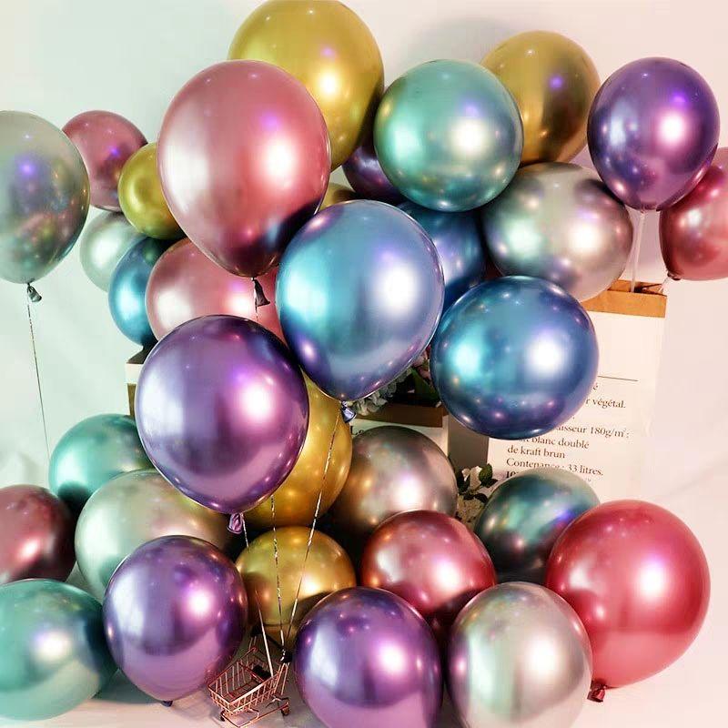 200PCS 12inch Metal Color 3 2g Latex Balloons Wedding Decoration Birthday Metallic Gold Balloon Kids Wedding