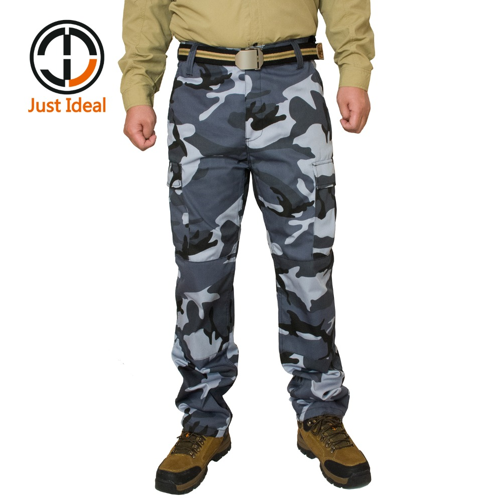 Men Military Tactical Pants Camouflage Casual Pant Solider Pants Multi Pocket Long Trousers Durable High Quality Plus Size ID660