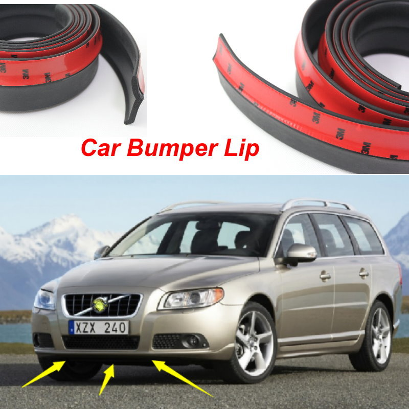 For Volvo V70 XC70 / Bumper Lip / Front Spoiler Deflector For Car View Tuning / Body Kit / Strip ...
