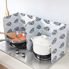 Küche Gasherd Tisch Öl Platte Hause Kreative Wärme-Beständig Öl Splash Aluminium Folie Schallwand Rühren Braten Öl isolierung Bord