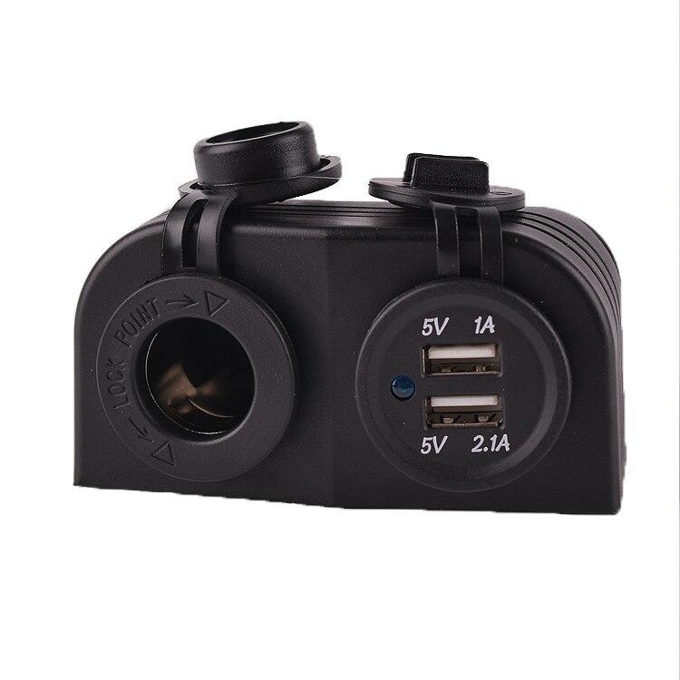 IZTOSS Double USB 12 V Bateau Voiture Allume-Cigare Chargeur Prise Adaptateur secteur Prise de Sortie Port envoyer 4 pcs 15 cm câble + 4 terminal
