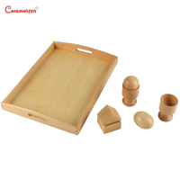 Montessori Wooden Material for Children 3D Object Fitting Exercise Kids Boy Teaching Aids Toy Educational Math Game ToysLT040 3