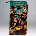 DC Comics Group Shot of Lady Heroes long zipper Wallet  DFT-1997