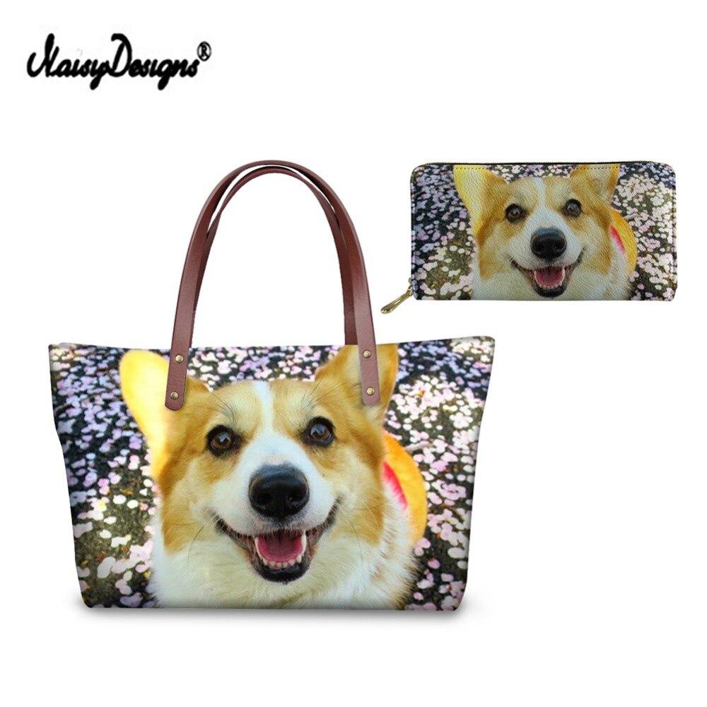Noisydesigns Boodschappentas Luxe Designer Purse Messenger Bag Voor Vrouwen 3d Welsh Corgi Honden Lady Crossbody Tas Reizen Tassen Gemakkelijk Te Smeren