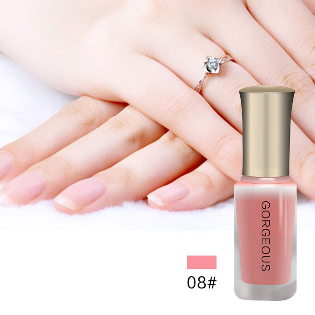 Nude Series Translucent Nail Polish Like Jelly Lacquer BK Brand Professional Nail Art Paint Enamel Cosmetics 12 Color