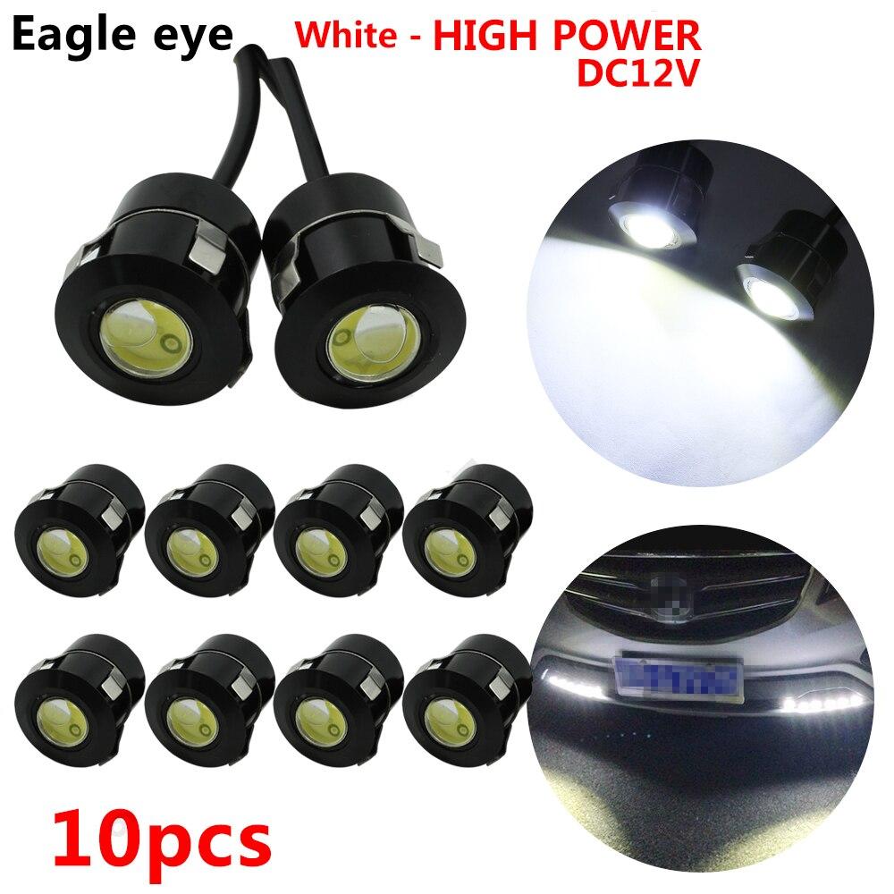 10 stücke Eagle Eye LED Reverse-Sensor Laser High Power DRL Tagfahrlicht Auto Auto Arbeit Licht Nebel Lampe parkplatz Lichter 12V