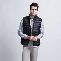 2017 New Arrival Brand Vest Men Winter Duck Down Ultra Light 90 Duck Down Vest Loose