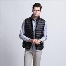 ФОТО 2017 new arrival brand vest men winter duck down ultra light 90% duck down vest loose waistcoat vest sleeveless jacket 3xl x566