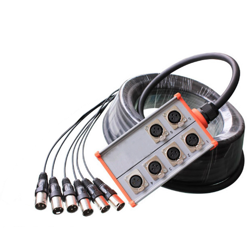 High quality KL Pro Audio 6 channel Stage Snake Cable -Box стоимость