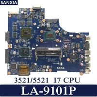 KEFU Inspiron VAW01 LA 9101P Laptop motherboard for DELL 3521 5521 VW55C 0VW55C Test original mainboard I7 CPU