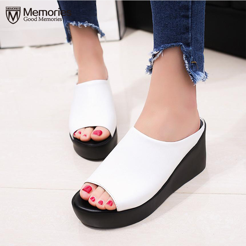 Hot Sale Women Summer Fashion Leisure shoes women platform wedges Fish Mouth Sandals Thick Bottom Slippers 2018 sapato feminino rome style women sandals 2018 new arrivals fashion summer platform shoes fresh wedges sandals women shoes sapato feminino