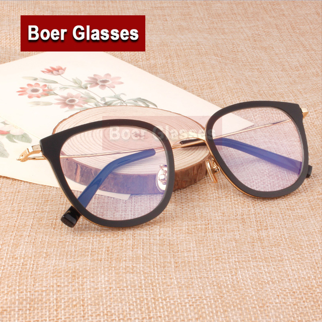 05edfb1afb80 New Fashion Retro Women Metal Eyeglasses Full Rim Female Big Plastic Frame  Prescription Eye Glasses Eyewear Rxable 22218