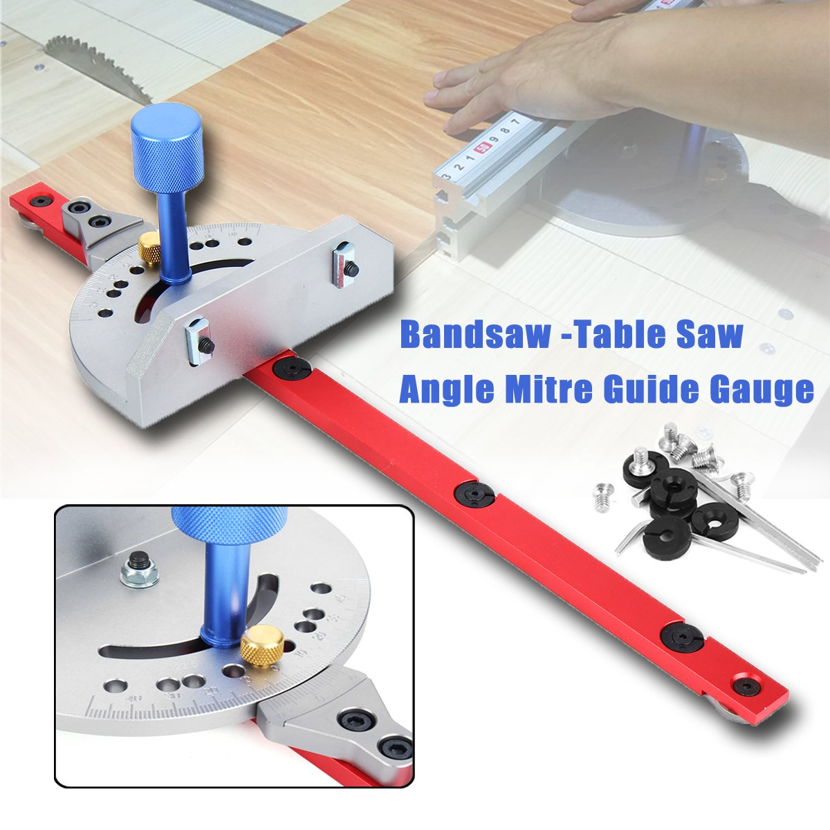 Miter Gauge Wood Working Tool For Bandsaw Table Saw Router Angle Miter Gauge Guide Fence Woodworking Machinery Parts high quality table saw router miter gauge sawing assembly ruler woodworking diy tools