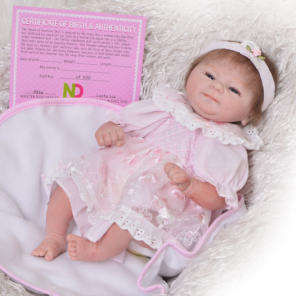Collectible 16 41 cm Girl Baby Doll Lifelike Soft Silicone Vinyl Bebe Reborn Boneca For Kid Classic Popular Child Holiday Gifts