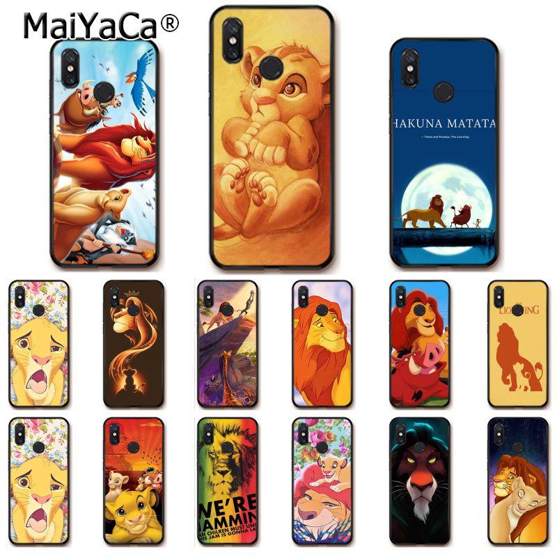 Competent Maiyaca De Lion King Grumpy Kat Simba Zwarte Telefoon Case Voor Xiao Mi Mi 6 Mi X2 Mi X2s Note3 8 8se Rode Mi 5 5 Plus Note4 4x Note5