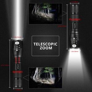 Image 3 - Lampe tactique de pêche de Camping, lanterne étanche, lampe de poche LED lumineuses, T6 V6 L2, lampe Rechargeable, auto défense, 18650, 8000lm