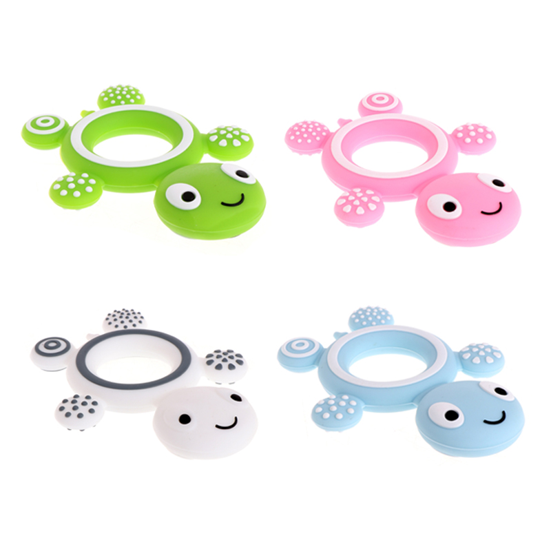 Silicone Teether 27 Colors Safety Tortoise Baby Kids Food Grade Silicone Soother Teether Teething Turtle Chewable Pacifier