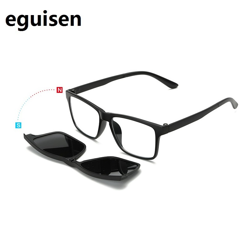 Ancho-140 TR90 imán retro polarizadas clip de la miopía gafas marco ...