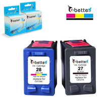 Free Shipping Inkjet Cartridge For Hp 27 28 C8727A C8728A Fax 1240 Deskjet 3420 3520 3550