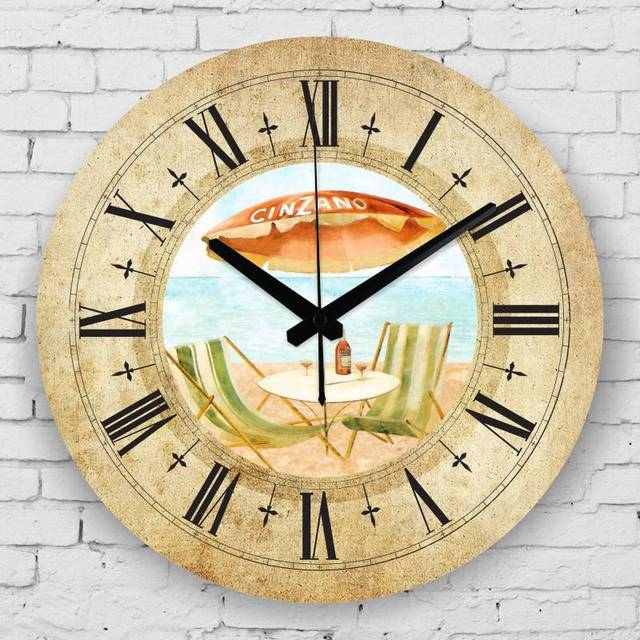 Mediterranean style home decoration wall watches waterproof clock ...