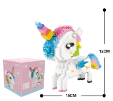 цена на NEW LOZ Mini Building Blocks Figurs cartoon cute unicorn  Action Figure DIY educational Blocks Toys for children