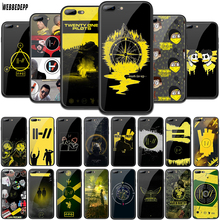 WEBBEDEPP Twenty One Pilots 21 Tempered Glass TPU Cover for Apple iPhone 6 6S 7 8 Plus 5 5S SE XR X XS 11 Pro MAX Case