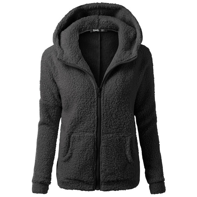 2019 Fall Black Gothic Plus Size 5XL Casual Women Hoodies Straight Hooded Zipper Pocket Plain Autumn Female Fashion Sweatshirts