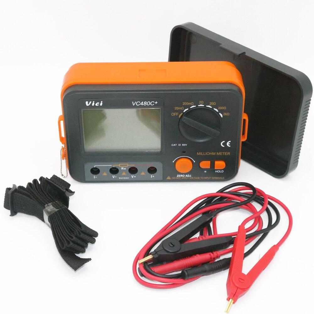 VICI VC480C 3 1 2 Digital Milli ohm 2k ohm Meter Low Resistance multimeter with 4