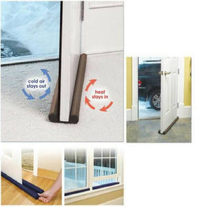 Useful Tools Coffee Color Twin Door Draft Dodger Guard Stopper Energy Doorstop Protector