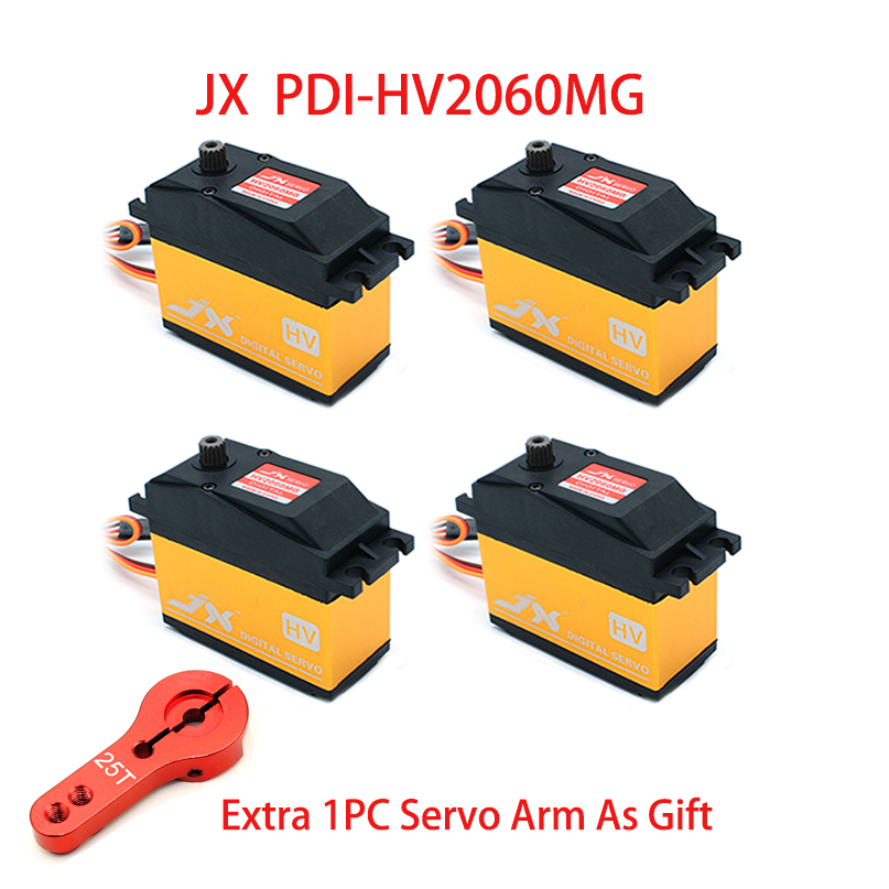 JX Rc Servo PDI-HV2060MG 60KG High Torque 180 / 360 Degrees Digital Servo For RC Model Helicopter Parts 1/5 Rc Car Helicopter