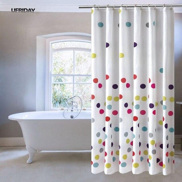 UFRIDAY Bunte Tupfen Stoff Sitzwanne Polyester Wasserdicht Bad Duschvorhang Modernes  Bad Vorhang Mit Haken