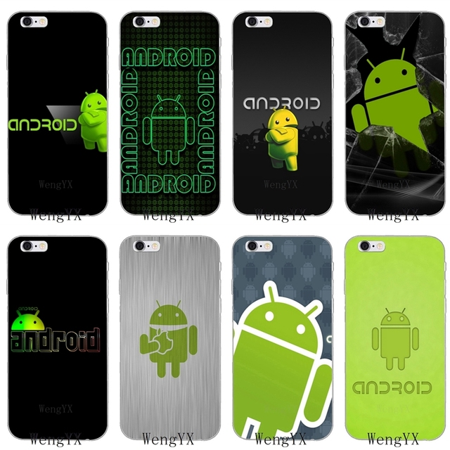 Green Android Robot Logo Slim Silicone Soft Phone Case For Samsung
