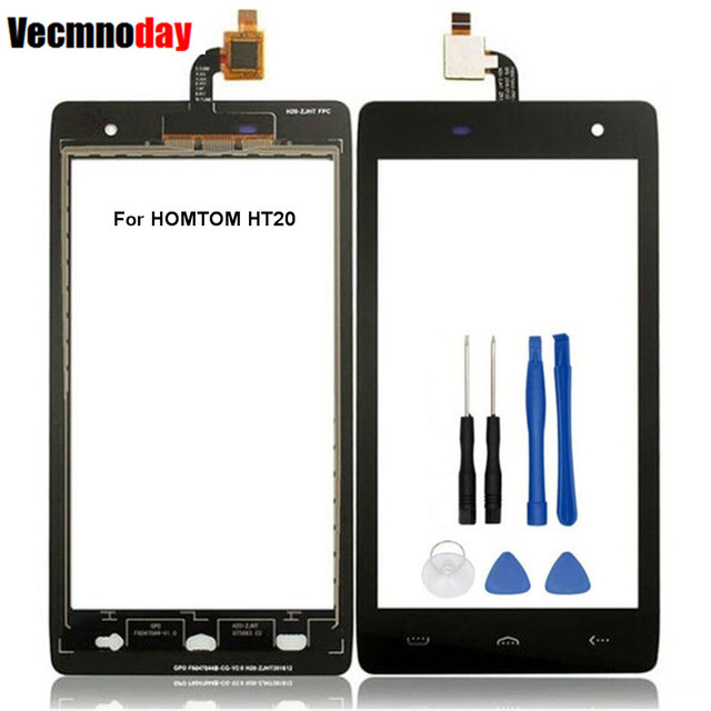 Vecmnoday Mobile Phone Touch Screen Digitizer For HOMTOM HT20 Touchscreen Panel Sensor Front Glass Lens Free Shipping