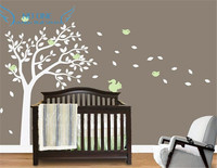 Nursery Wall Decals. Blowing Summer Tree Wall Sticker For Boys And Girls Rooms. Custom Made Tree Wall Stickers Home Decor
