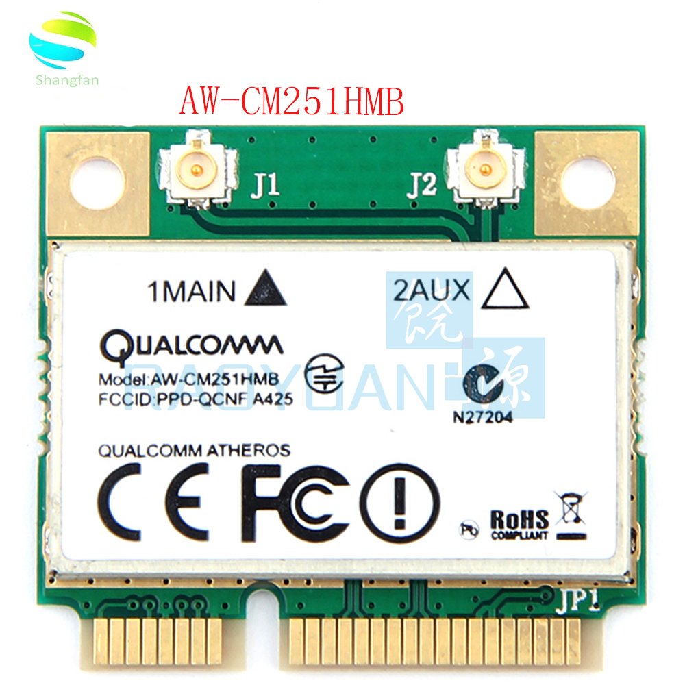 Wireless-AC Dual Band For Qualcomm Atheros QCA9377 AW-CM251HMB Mini PCI-E Wifi Card 433Mbps BT4.1 802.11ac