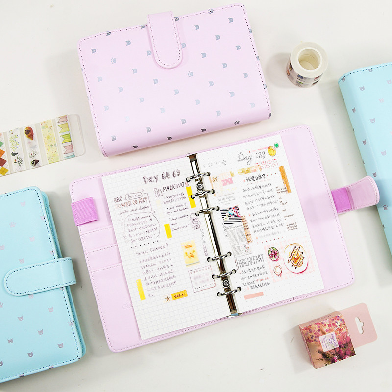 DOKIBOOK Creative Makaron Pink Plan Notebook 2016 Notebook Korean Cat Claws Notepad Schedule Notebook 1PCS cagie a5 schedule plan notebook creative stationeryplan notebook efficiency manual notebook notepad 1pcs