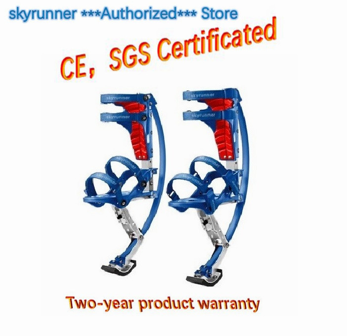 Skyrunner(Weight:88~132lbs/40~60kg) Blue Jumping Stilts/Jump Shoes/Flying Shoes/Outdoor Sports/limit Movement Shoes