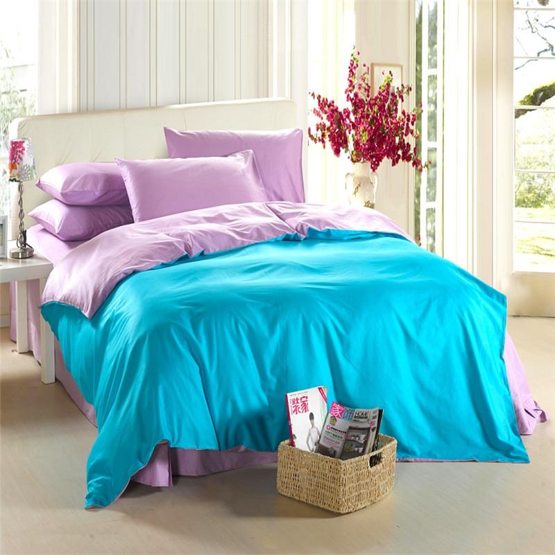 Aqua Blue Purple Lilac Bedding Set King Size Queen Quilt