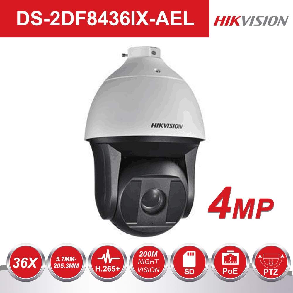 Hikvision Smart Tracking Speed Dome Camera DS-2DF8436IX-AEL 4 Megapixel 36X Optical Zoom 200m IR Speed Dome PTZ IP CamerasHikvision Smart Tracking Speed Dome Camera DS-2DF8436IX-AEL 4 Megapixel 36X Optical Zoom 200m IR Speed Dome PTZ IP Cameras