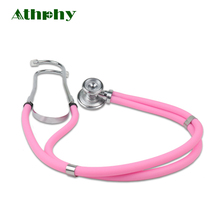 Athphy Professional Stethoscope Medical Portable Double Head High Quality Colorful Heart Care Equipment Estetoscopio WG-07 health care professional medical double dual head stethoscope double barreled functional high quality estetoscopio