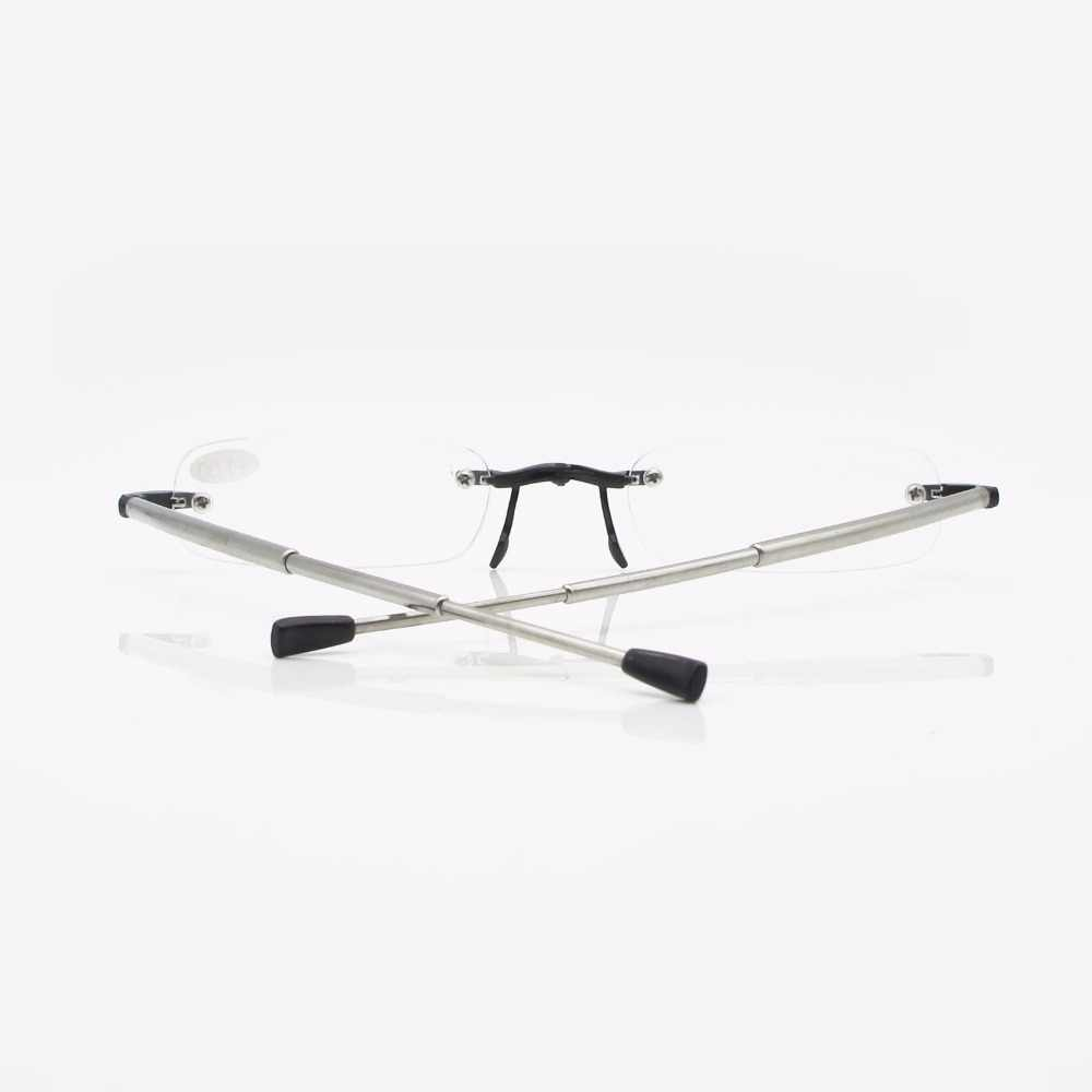 Gafas de lectura plegables sin montura SUMONDY de gama alta Dioptre + 1,0 a + 4,0, gafas presbiópicas resistentes a la fatiga para hombres y mujeres R124