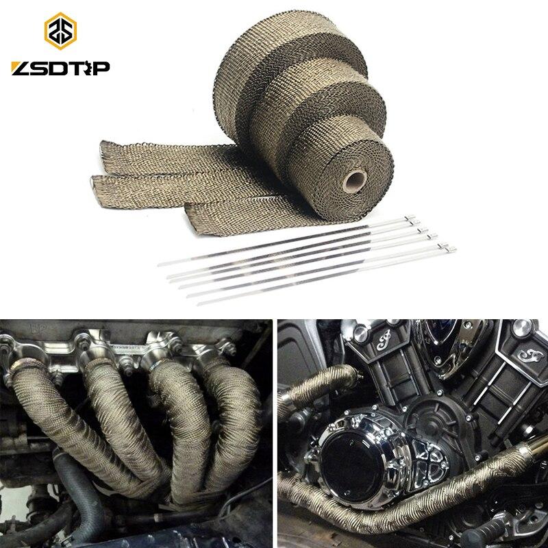 "Subaru 2/"" x 50/' Protection Header Exhaust Heat Wrap Green with 8 Steel Ties"