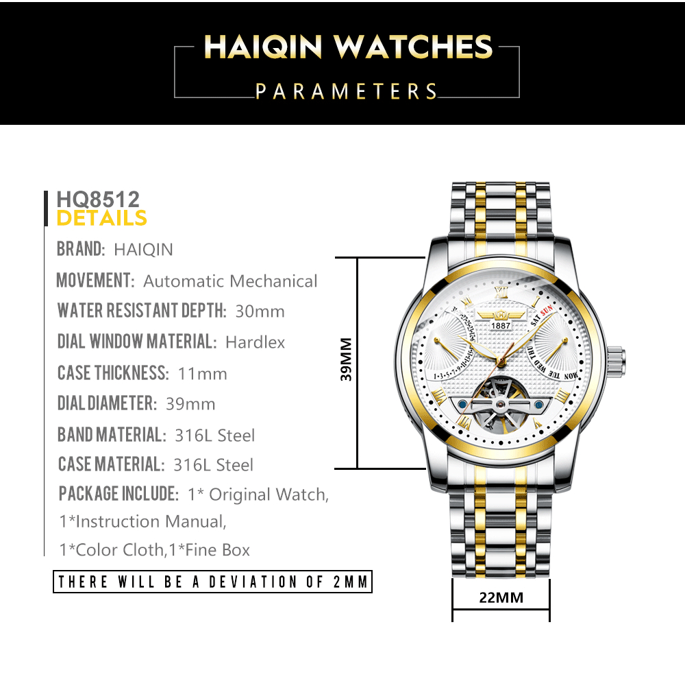 HAIQIN Men's watches Mens Watches top brand luxury Automatic mechanical sport watch men wirstwatch Tourbillon Reloj hombres 2020 HTB1Ew8eaEvrK1RjSspcq6zzSXXaj